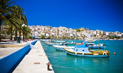 Hafenpromenade in Kreta