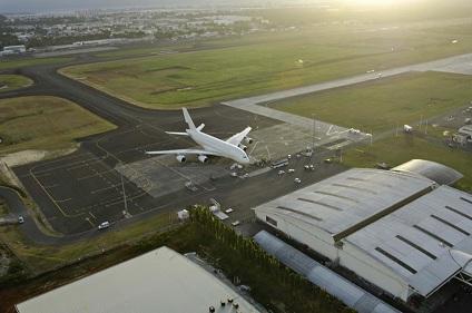 Guadeloupe Flughafen Eingang