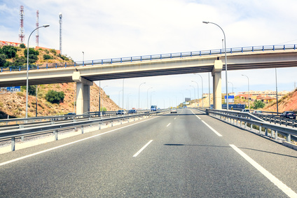 Motorways in Malaga, Spain