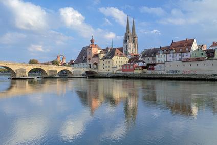 Die herrliche Altstadt Regensburg ist auch Standort einer Sixt Autovermietung