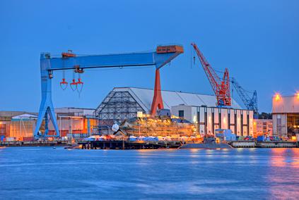 Werft in Kiel