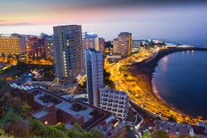 Hotels am Strand bei Puerto de la Cruz - Teneriffa