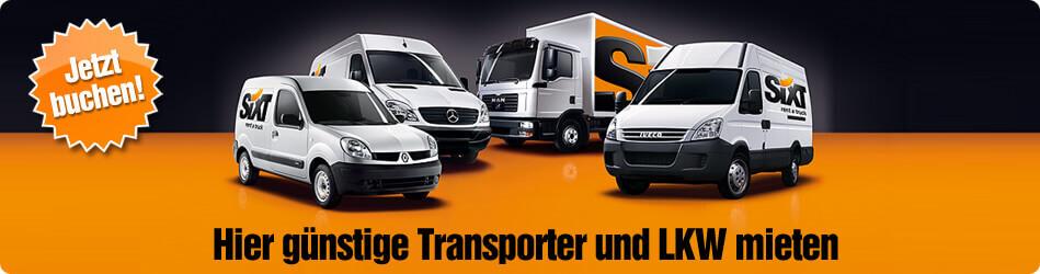 Transporter Mieten LKW Vermietung Deutschland