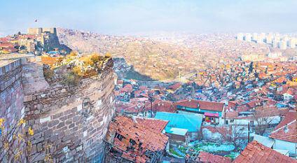 vue d'Ankara depuis le château