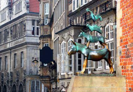Bremen- Bremer Stadtmusikanten