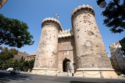 Spanische Burg nahe Valencia